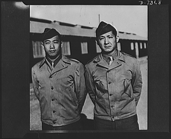 Chinese American Officers get rank