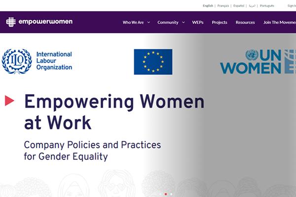 Empower Women website screenshot.