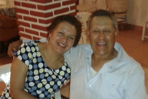 Claudia Gomez's parents laughing, present day.