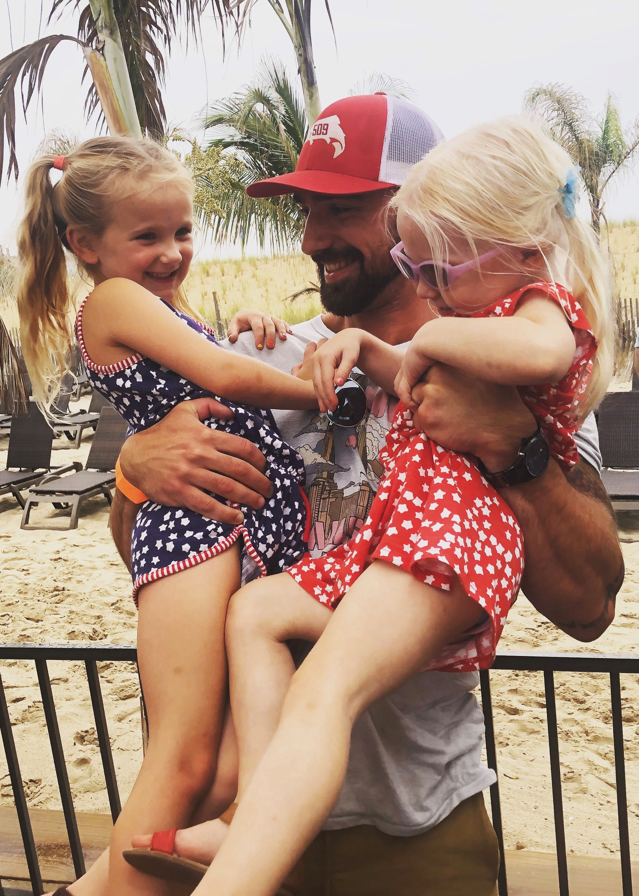 Derek Kimmerle is a customer success manager at Populus Group. He is pictured here with his two nieces.