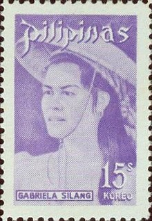 Photo of a postage stamp featuring Gabriela Silang