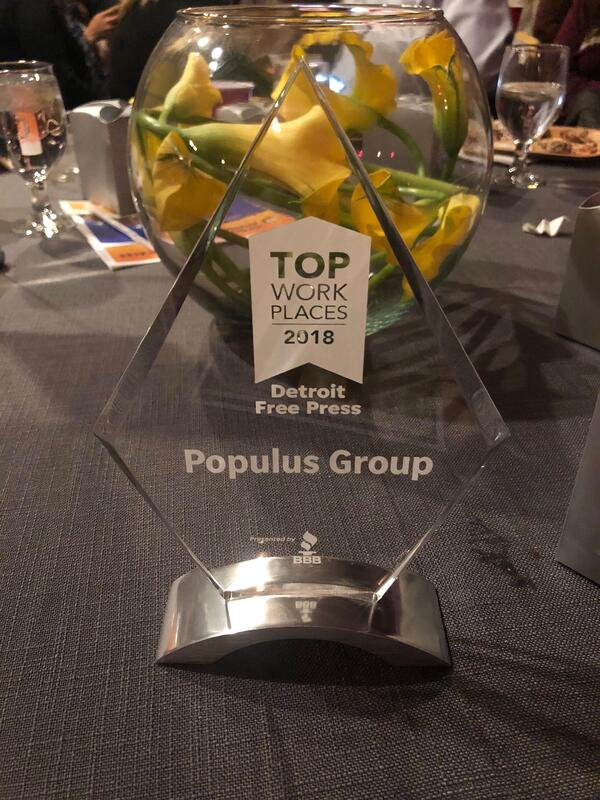Populus Group DFT Best Work Places Award