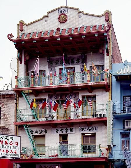 Historic building in Chinatown, San Francisco, California