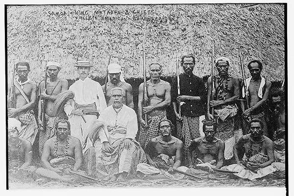 Samoa King Mataafa and Chiefs