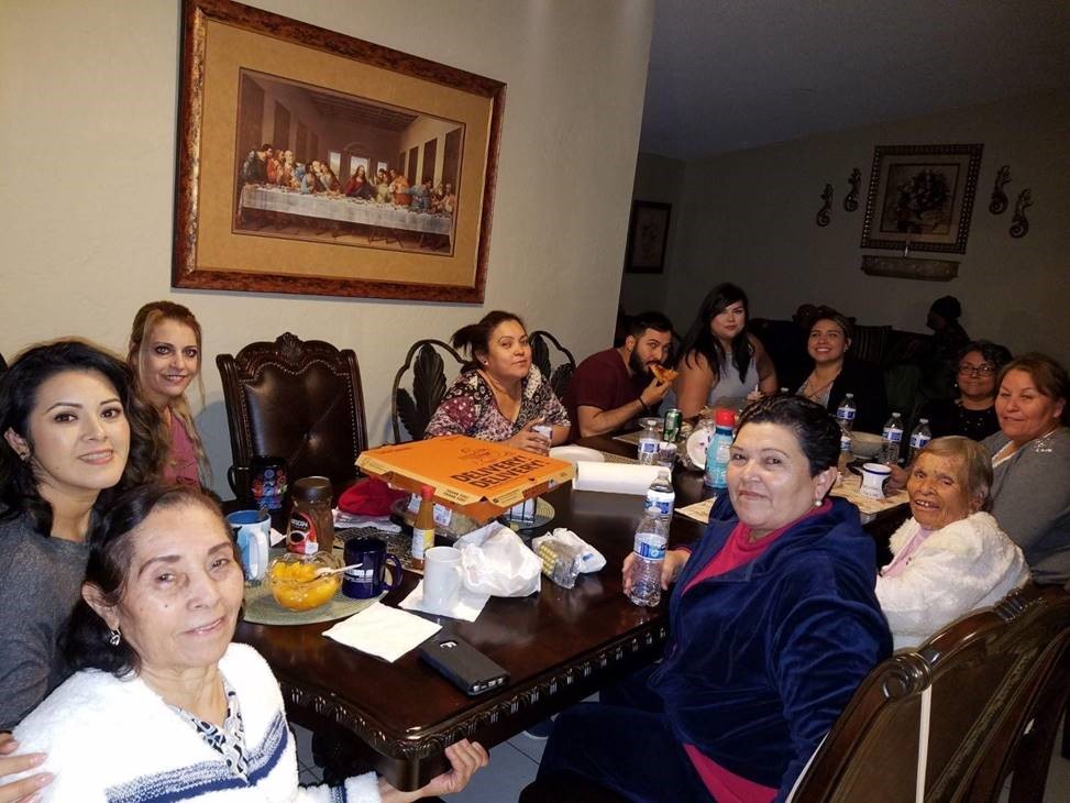 Arlene Sanchez with her family. She is the daughter of Mexican immigrants and works as an Immigration Specialist at Populus Group.