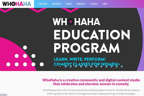 WhoHaha website screenshot.