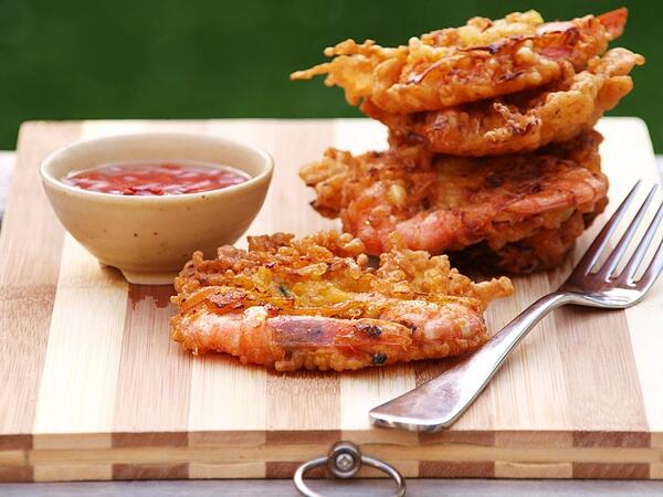 Ukoy are Filipino shrimp fritters.